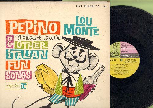 Monte, Lou - Pepino The Italian Mouse & Other Italian Fun Songs: Twist Italiano, Sixteen Tons, Calypso Italiano (vinyl STEREO LP record) - EX8/EX8 - LP Records