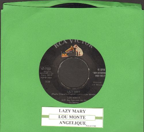 Monte, Lou - Lazy Mary/Angelique (with juke box label) - EX8/ - 45 rpm Records