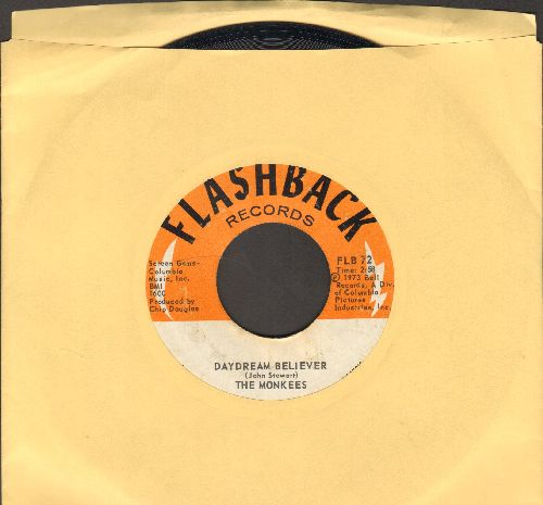 Monkees - Daydream Believer/(I'm Not Your) Steppin' Stone (double-hit re-issue) - EX8/ - 45 rpm Records