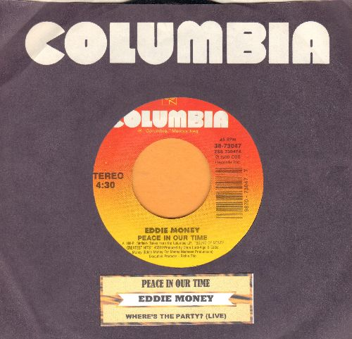 Money, Eddie - Peace In Our Time/Where's The Party? (LIVE version) (with juke box label and Columbia company sleeve) - NM9/ - 45 rpm Records