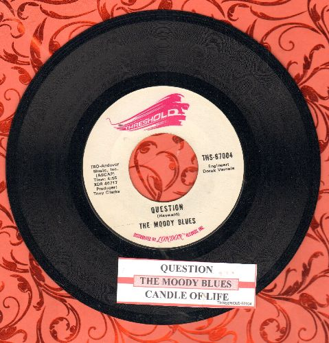 Moody Blues - Question/Candle Of Life (with juke box label) - NM9/ - 45 rpm Records