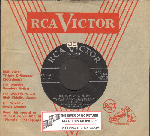 Monroe, Marilyn - River Of No Return/I'm Gonna File My Claim (RARE 1954 first issue with juke box label and RCA company sleeve) - EX8/ - 45 rpm Records