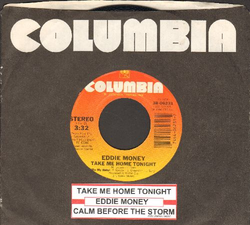 Money, Eddie - Take Me Home Tonight/Calm Before The Storm (with juke box label and Columbia company sleeve) - EX8/ - 45 rpm Records