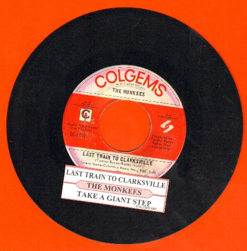 Monkees - Last Train To Clarksville/Take A Giant Step (with juke box label) - EX8/ - 45 rpm Records