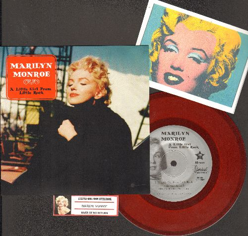 Monroe, Mariyln - Marilyn Monroe - A Little Girl From Little Rock/River Of No Return/Some Like It Hot (7 inch 33 rpm Red Vinyl Special 2007 Promo Pressing with juke box label) - NM9/ - 45 rpm Records