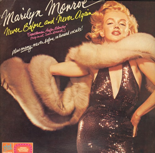 Monroe, Marilyn - A Rare Side Of Marilyn Monroe: Do It Again, Heat Wave, When Love Goes Wrong, Diamonds Are A Girl's Best Friend (Vinyl LP record, 1980s issue of vintage recordings) (cover tear) - NM9/VG7 - LP Records