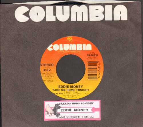 Money, Eddie - Take Me Home Tonight/Calm Before The Storm (with juke box label and Columbia company sleeve) - NM9/ - 45 rpm Records