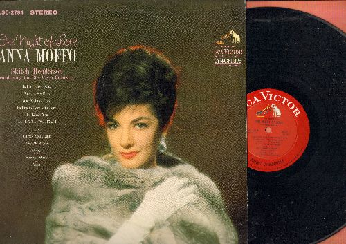 Moffo, Anna - One Night Of Love: Italian Street Song, If I Loved You, Always, Vilia, Love Is Where You Find It (vinyl STEREO LP record) - NM9/EX8 - LP Records