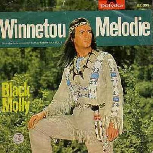 Bottcher, Martin Orchester - Winnetou-Melodie/Black Molly (Theme music from film -Winnetou II-, German Pressing with picture sleeve) - NM9/VG7 - 45 rpm Records