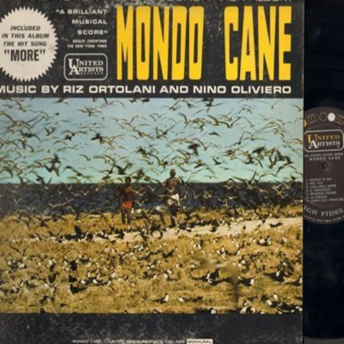 Monde Cane - Monde Cane - Original Motion Picture Sound Track Album - Music by Riz Ortolani and Nino Oliviero, includes Hit -More- (Vinyl MONO LP record) - EX8/VG7 - LP Records