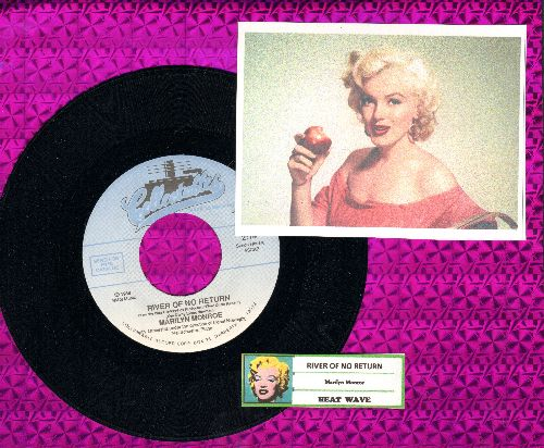 Monroe, Marilyn - River Of No Return/Heat Wave (MINT condition re-issue with juke box label) - M10/ - 45 rpm Records