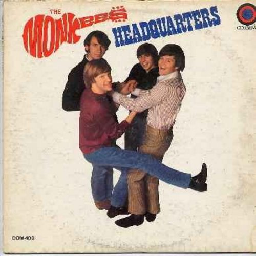 Monkees - Headquarters: You Told Me, I'll Spend My Life With You, Forget That Girl, You Just May Be The One, Sunny Girlfriend, I Can't Get Her Off My Mind (VINYL mono lp RECORD) - EX8/VG6 - LP Records