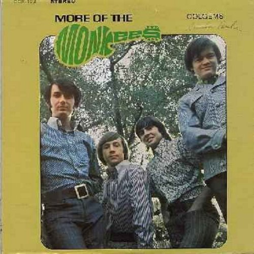 Monkees - More Of The Monkees: I'm A Believer, The Day We Fall In Love, Look Out (Here Comes Tomorrow), Your Auntie Grizelda, (I'm Not Your) Steppin' Stone (vinyl STEREO LP record) - EX8/EX8 - LP Records