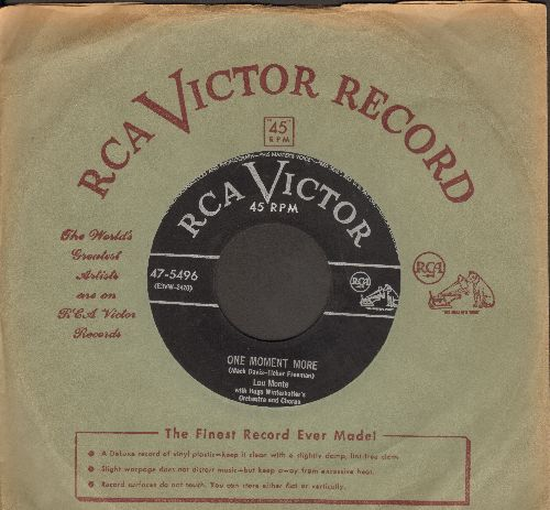 Monte, Lou - A Baby Cried/One Moment More (MINT condition with vintage RCA company sleeve) - M10/ - 45 rpm Records