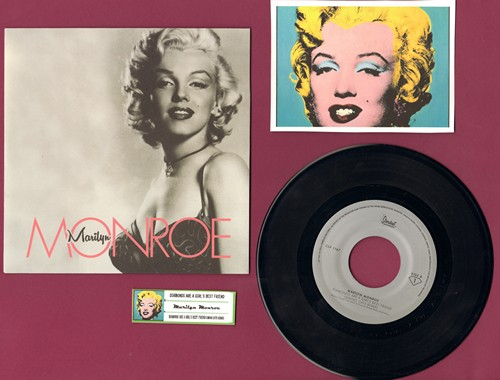 Monroe, Marilyn - Diamonds Are A Girl's Best Friend/Diamonds Are A Girl's Best Friend (Swing Cats Remix) (LIMITED EDITION 7 inch 33rpm pressing with picture sleeve and juke box label, suitable for framing!) - M10/M10 - 45 rpm Records
