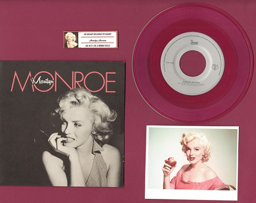 Monroe, Marilyn - My Heart Belongs To Daddy/She Acts Like A Woman Should  (LIMITED EDITION 7 inch 33rpm RED VINYL pressing with picture sleeve, juke box label, suitable for framing!) - M10/M10 - 45 rpm Records