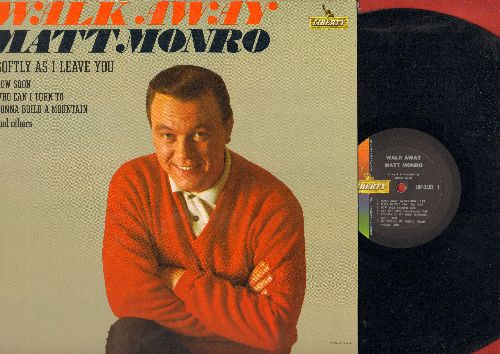 Monro, Matt - Walk Away: Georgia On My Mind, Softly As I Leave You (vinyl MONO LP record) - NM9/EX8 - LP Records