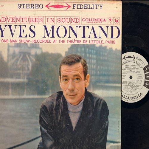 Montand, Yves - One Man Show: Vivre comme ca, Mon Manege a moi, Simple comme bonjour (Vinyl STEREO LP record, DJ advance pressing) - NM9/EX8 - LP Records