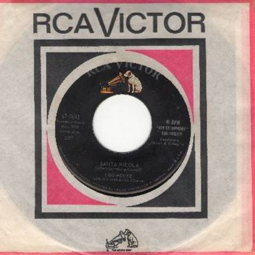Monte, Lou - Santa Nicola/All because It's Christmas (with RCA company sleeve) - NM9/ - 45 rpm Records