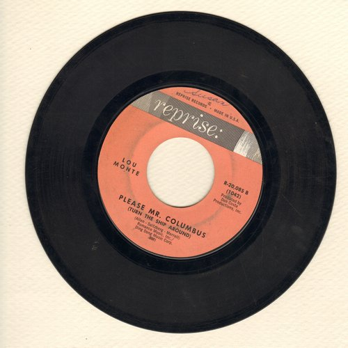Monte, Lou - Please Mr. Columbus (Turn The Ship Around)/Addio, Addio  - VG7/ - 45 rpm Records