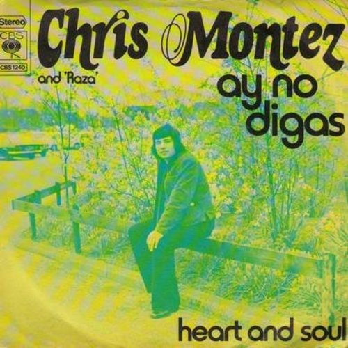 Montez, Chris - Ay No Gigas/Heart And Soul (Dutch Pressing with picture sleeve, with removable spindle adapter) - NM9/EX8 - 45 rpm Records