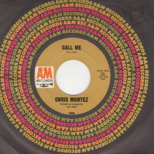 Montez, Chris - Call Me/Go Head On (with A&M company sleeve) - EX8/ - 45 rpm Records