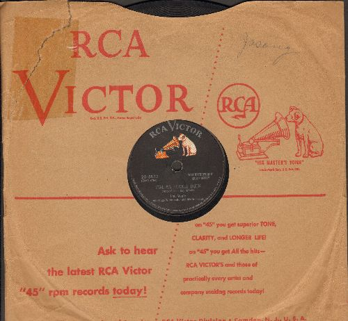 Monte, Lou - Italian Huckle Buck/Just Like Before (10 inch 78 rpm record with vintage RCA company sleeve) - VG7/ - 78 rpm
