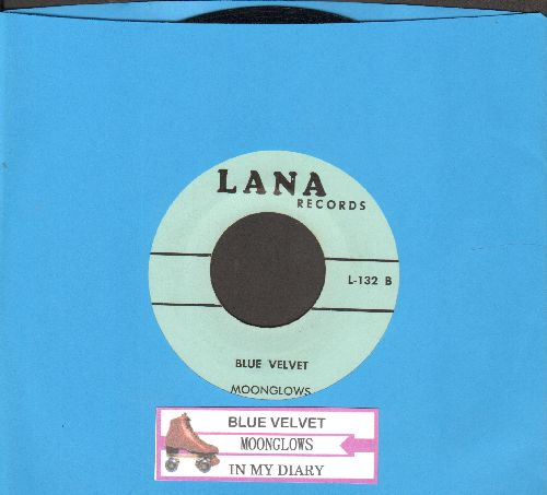 Moonglows - Blue Velvet/In My Diary (early double-hit reissue with juke box label) - EX8/ - 45 rpm Records
