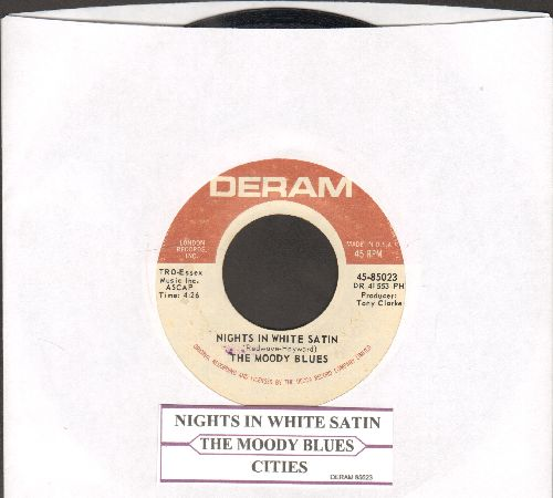 Moody Blues - Nights In White Satin/Cities (with juke box label) - EX8/ - 45 rpm Records