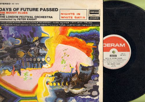 Moody Blues - Days Of Future Passed: Includes Nights In White Satin (7:41 minutes version)(vinyl STEREO LP record) - EX8/EX8 - LP Records