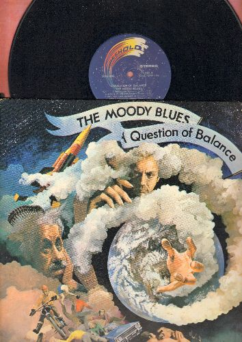 Moody Blues - A Question Of Balance: Question, It's Up To You, Minstrel's Song, Don't You Feel Small (Vinyl STEREO LP record, gate-fold cover, with lyrics sheet) - EX8/VG7 - LP Records
