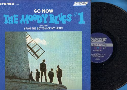 Moody Blues - Go Now - The Moody Blues #1: From The Bottom Of My Heart, I Go Crazy, Let Me Go, I Had A Dream (Vinyl STEREO LP record, blue label first pressing) - NM9/NM9 - LP Records