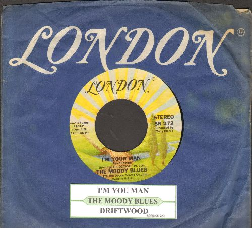 Moody Blues - I'm Your Man/Driftwood (re-issue with juke box label and London company sleeve) - EX8/ - 45 rpm Records