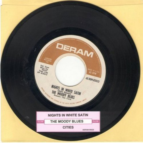 Moody Blues - Nights In White Satin/Cities (with juke box label) - VG7/ - 45 rpm Records