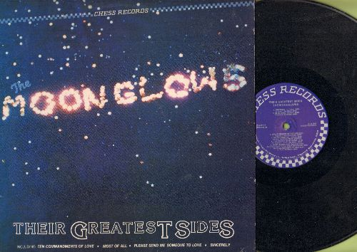 Moonglows - Their Greatest Sides: Sincerely, We Go Together, In My Diary, Blue Velvet, See Saw, Ten Commandments Of Love, Penny Arcade (Vinyl MONO LP record, 1983 re-issue of Vintage Doo-Wop Recodings, DJ advance copy) - NM9/NM9 - LP Records
