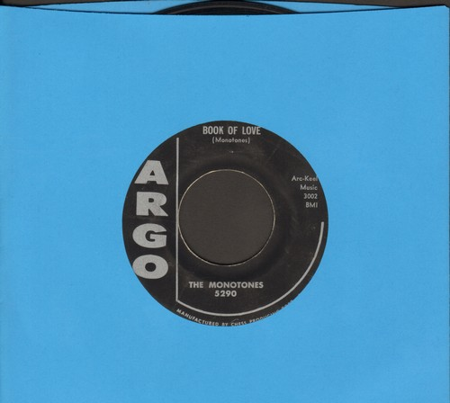 Monotones - Book Of Love/You Never Loved Me (original first issue with juke box label) - VG7/ - 45 rpm Records