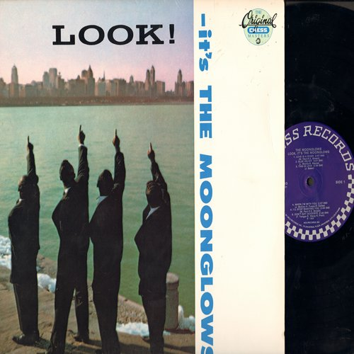 Moonglows - Look! It's The Moonglows: Blue Velvet, This Is Love, Ten Commandments Of Love, Sweeter Than Words (Vinyl MONO LP record, re-issue of vintage Doo-Wop recordings) - M10/EX8 - LP Records