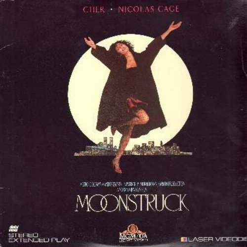 Moonstruck - Moonstruck - Cher's 1987 Oscar Winner, the Blockbuster Romantic Comedy featuring Oscar Winner Olympia Dukakis - THIS IS A LASER DISC, NOT ANY OTHER KIND OF MEDIA! - NM9/EX8 - Laser Discs
