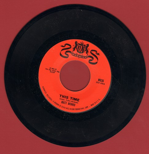Monro, Matt - This Time/My Kind Of Girl - EX8/ - 45 rpm Records