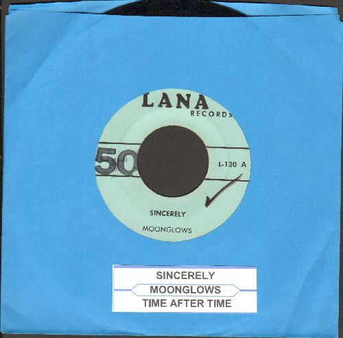 Moonglows - Sincerely/Time After Time (early re-issue with juke box label, wol) - EX8/ - 45 rpm Records