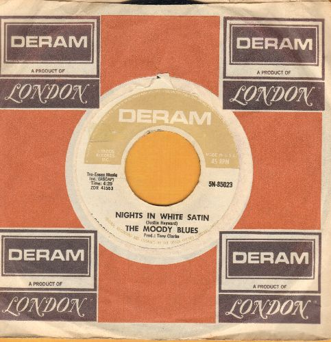 Moody Blues - Nights In White Satin/Cities (with Deram company sleeve) - EX8/ - 45 rpm Records