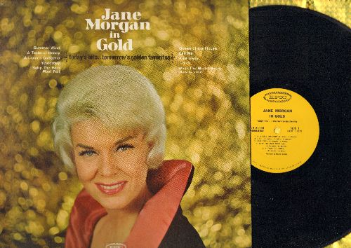Morgan, Jane - Jane Morgan In Gold: Summer Wind, A Lover's Concerto, 1-2-3, Queen Of The House, What The World Needs Now Is Love (Vinyl MONO LP record, NICE condition!) - M10/NM9 - LP Records