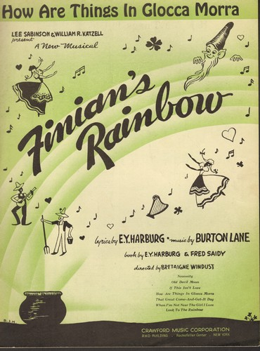 How Are Things In Glocca Morra - How Are Things In Glocca Morra - Vintage SHEET MUSIC for the song featured in Broadway Musical -Finnean's Rainbow- - EX8/ - Sheet Music