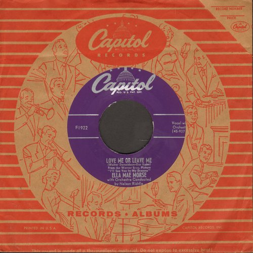 Morse, Ella Mae - Love Me Or Leave Me/The Blacksmith Blues (with vintage Capitol company sleeve) - M10/ - 45 rpm Records
