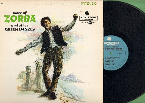 Costas, Costa & His Orchestra - More Zorba And Other Greek Dances: Melina, Ababaca, Lemonia, Athina, Poli Kala (Vinyl STEREO LP record) - NM9/EX8 - LP Records
