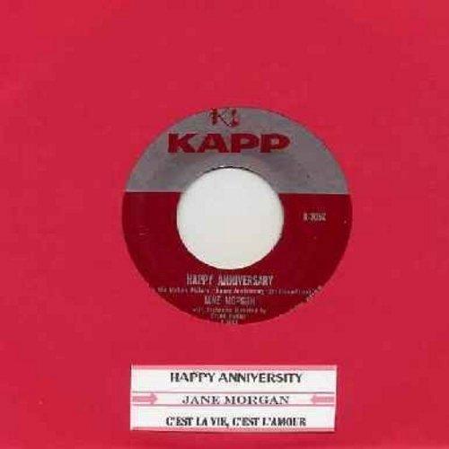 Morgan, Jane - Happy Anniversary/C'est La Vie, C'est 'Amour (with juke box label) - EX8/ - 45 rpm Records