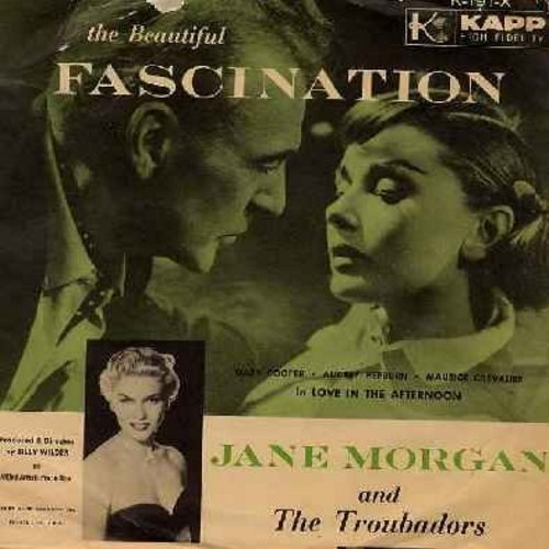 Morgan, Jane - Fascination/Whistling Instrumental Fascination (with picture sleeve) - NM9/EX8 - 45 rpm Records