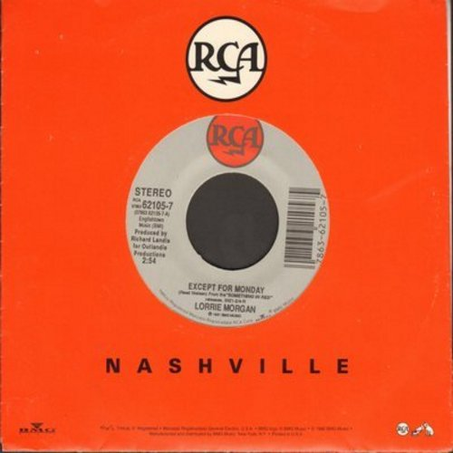 Morgan, Lorrie - Except For Monday/Hand Over Your Heart (wit RCA company sleeve) - NM9/ - 45 rpm Records