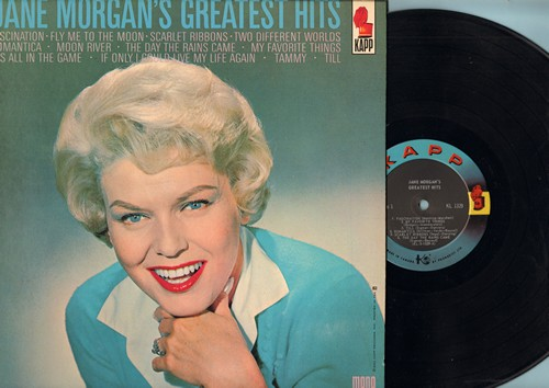 Morgan, Jane - Jane Morgan's Greatest Hits: Fascination, Fly Me To The Moon, Scarlet Ribbons, Moon River, The Day The Rains Came, It's All In The Game, Tammy, Till (Vinyl MONO LP record, Canadian Pressing) - NM9/NM9 - LP Records