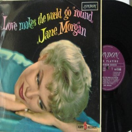 Morgan, Jane - Love Makes The World Go Round: Temptation, Count Every Star, Where's The Boy (I Never Met), The Bridal Path (Vinyl MONO LP record, British Pressing) - NM9/EX8 - LP Records